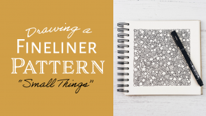 """""""Small Things"""" Pattern Colouring Page Download"""